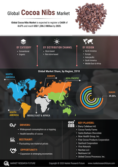 Info index view global cocoa nibs market