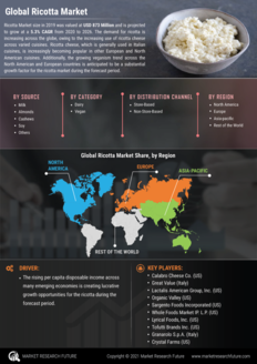 Info index view ricotta market  information by segmentation  growth drivers and regional analysis
